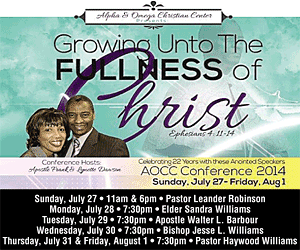 Alpha and Omega Church - AOCC Conference 2014