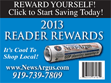 The News-Argus Reader Rewards card for 2013